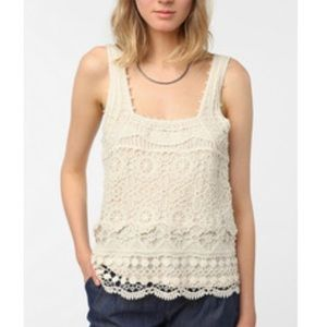 UO pins and needles crochet tank top